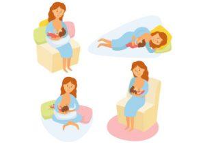 الأوضاع الصحيحة عند الرضاعة الطبيعية